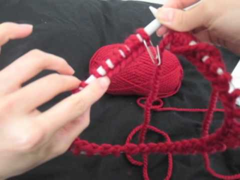 How To Knit With Circular Needles Tutorial Youtube