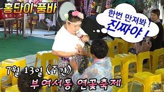 홍단이 품바 🌹 폭염이 무슨대수냐 ? 웃으면 더운줄도 몰라~^