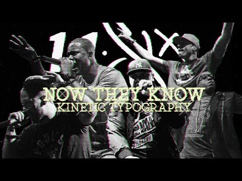 116 - Now They Know Kinetic Typography