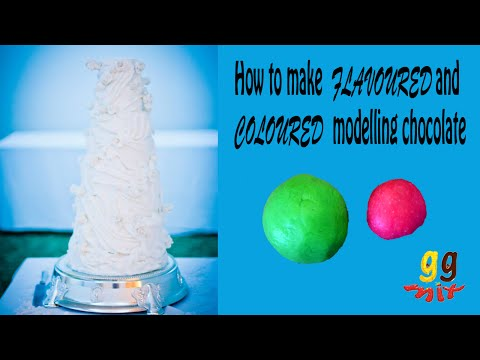 How To Make Flavoured And Coloured Modelling Chocolate Ggmix