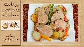 Pork Tenderloin And Roasted Red Potatoes Skillet Recipe | Cooking Outdoors | Gary House