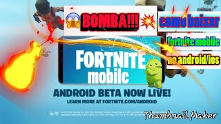 BOMB 😱!! How to download Fortnite on Android/iOS