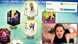 97 PRIME ICON RONALDO IN THE RAREST 194 FUT DRAFT EVER!! - FIFA 19