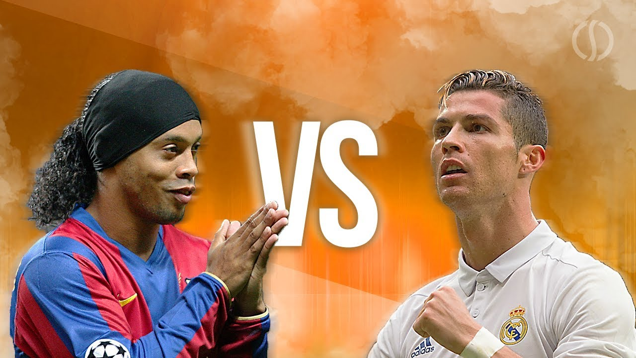 Download Ronaldinho VS Cristiano Ronaldo ► Splendid Dribbling Skills & Goals