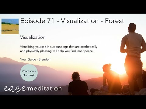 EASE GUIDED MEDITATION - Visualize Yourself in a Forest - (Without Music)