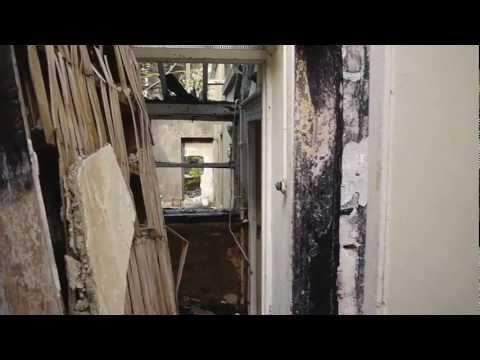 Marlay Rathfarnham - Abandoned, burnt period building in Dublin, Ireland.