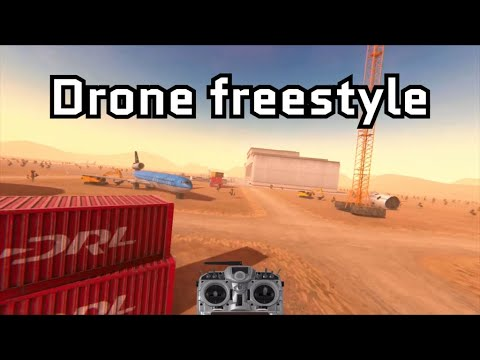 Фото Drone freestyle flying in DRL simulator