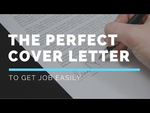 How to Create a Professional cover letter to get JOB