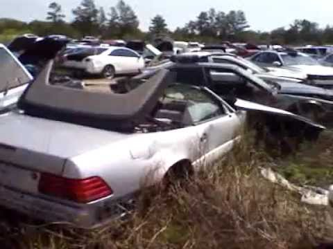 Mercedes junk yard