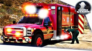 GTA 5 RP | SA'F FD #3 | Motorcycle Accident