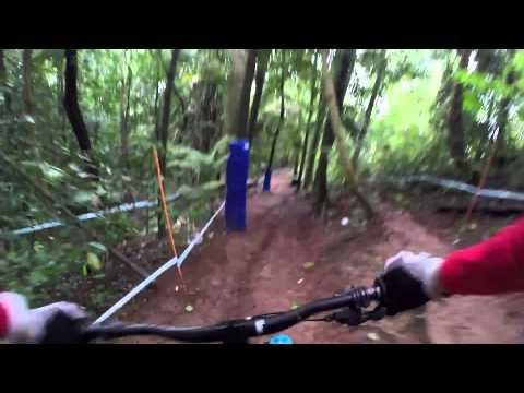 Downhill MTB GoPro footage on wild Australian trail
