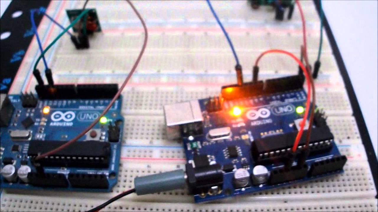 Rf Module 315mhz And Arduino Transmitter Circuit