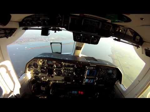 BN2 Islander cockpit view long landing at Hamburg EDDH Air Hamburg HD Gopro
