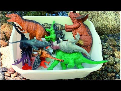 Learn Dinosaur toys for kids video 배우다 어린 이용 공룡 장난감 비디오