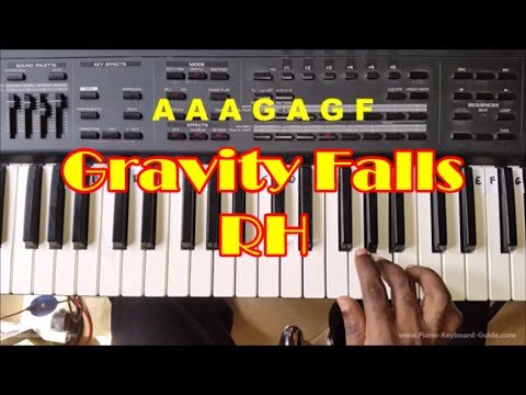 How To Play Gravity Falls Theme - Easy Piano Tutorial For Beginners  - Right Hand