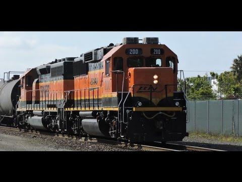 Burlington Northern BNSF 200 Richmond, Ca  (HD)