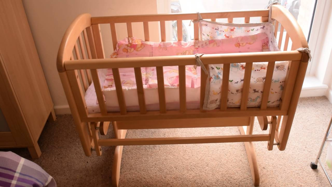 Crib hardware for sale - Swinging Crib 90 For Sale