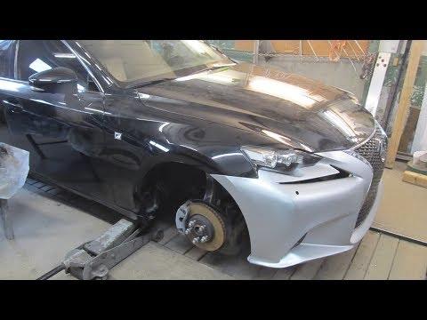 Lexus IS 250. The minor body repair. Небольшой ремонт кузова.