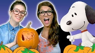 Ms. Booksy's Favorite Dog & Snoopy Pumpkin Carving With Crafty Carol - The Peanuts Movie