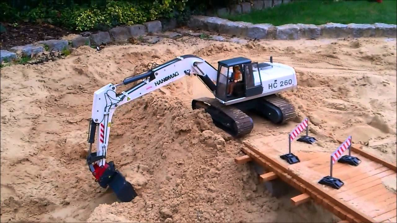 Bridge Construction Site Part 2 Rc Construction Machines Excavator