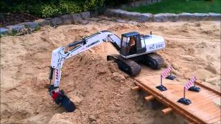 Bridge Construction Site Part 2 RC Construction Machines (Excavator / Dump Truck etc)
