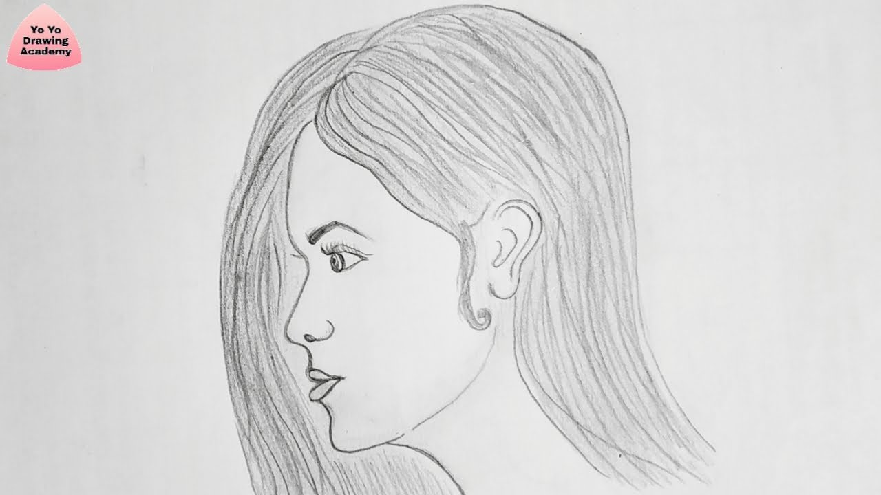 How to draw side face of girl step by step easy way to draw a girl face side view