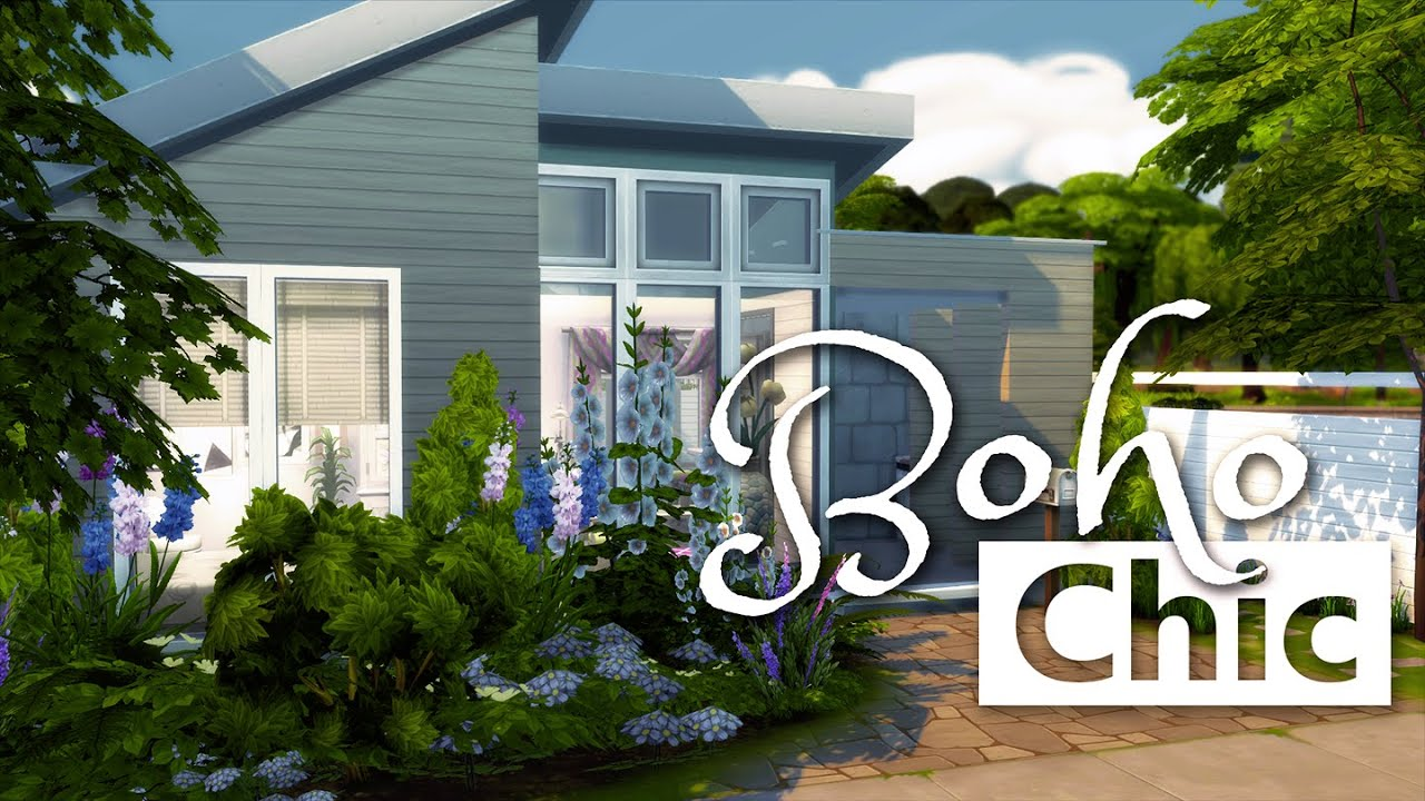 Urban treehouse sims 4 houses - The Sims 4 House Building Boho Chic Big Sister Challenge Youtube