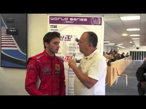 Interview Jules Bianchi, septembre 2012