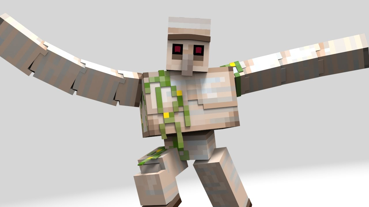 Iron golem dance minecraft animation weekly tests ep49 - Minecraft golem de diamant ...