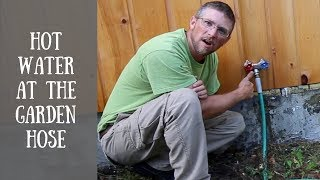 Installing a Hot Water and Cold Water OutDoor Hose Faucet
