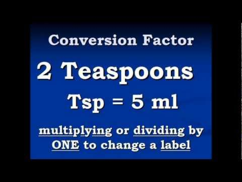 Conversion Teaspoons To Milliliters And Back Again