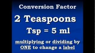 Conversion Video Teaspoons to Milliliters and back again