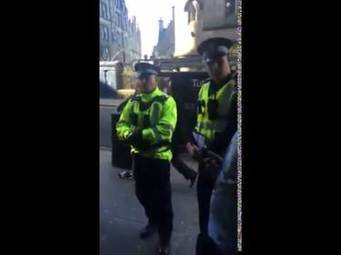 Police Assault and Unlawful Detention of Protestor- Edinburgh 21/03/2015 Part 2