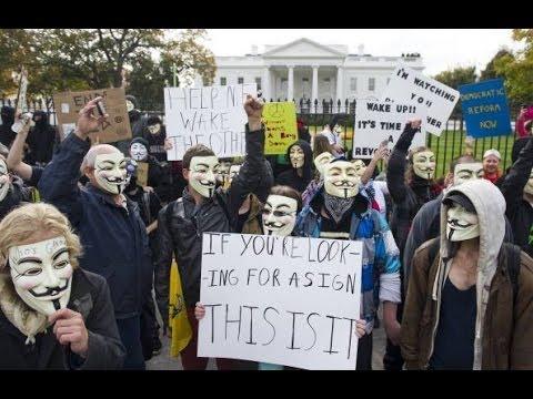 Anonymous Vendetta Million Mask Protest DC & UK