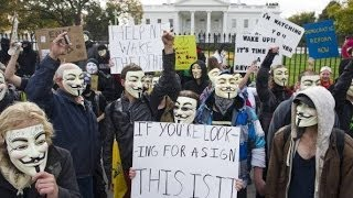 Anonymous Vendetta Million Mask Protest DC & UK