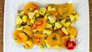 Caribbean Orange Pineapple Salad.