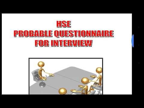 Oil and gas safety interview questions