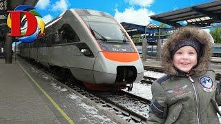 Vlog Видео для детей Поезд Интерсити паровоз железная дорога Train Railway for kids