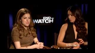 Anna Kendrick & Natalie Martinez - End of Watch Interview with Tribute at TIFF 2012