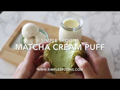 How To: Matcha Cream Puff