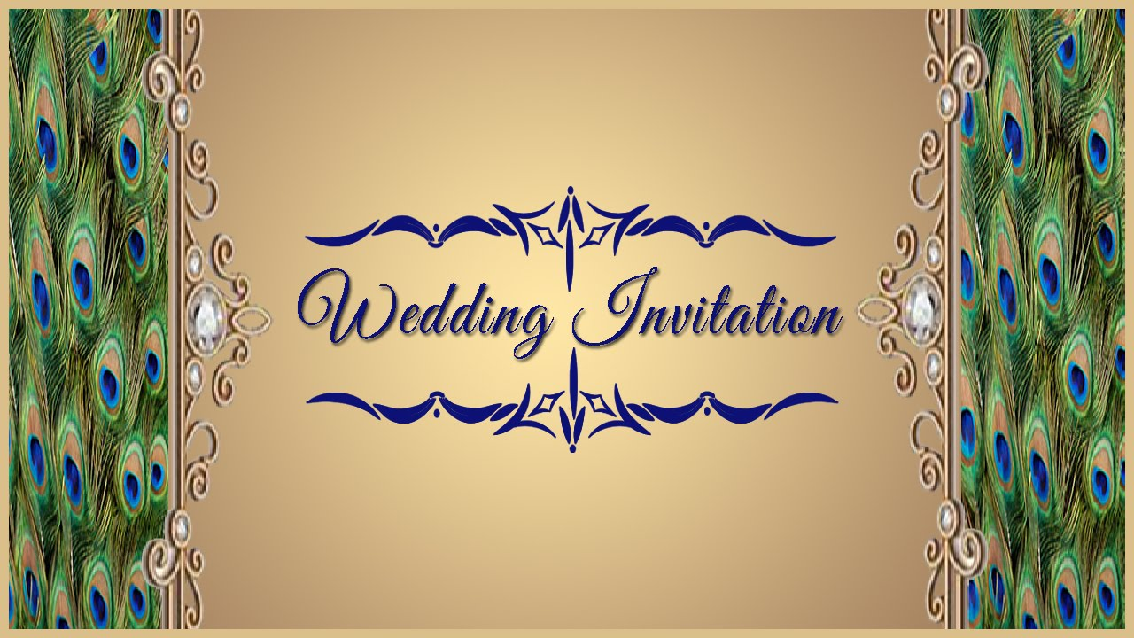 How To Design A Wedding Invitation Card Front Page In Photoshop In