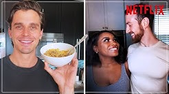 Antoni Cooks for Lauren and Cameron of Love is Blind | Netflix