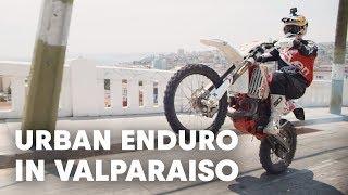 Riding Up An Urban MTB Downhill Course   Red Bull Valparaiso Cerro Abajo