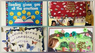 School notice board decoration ideas || amazing display board ideas for school