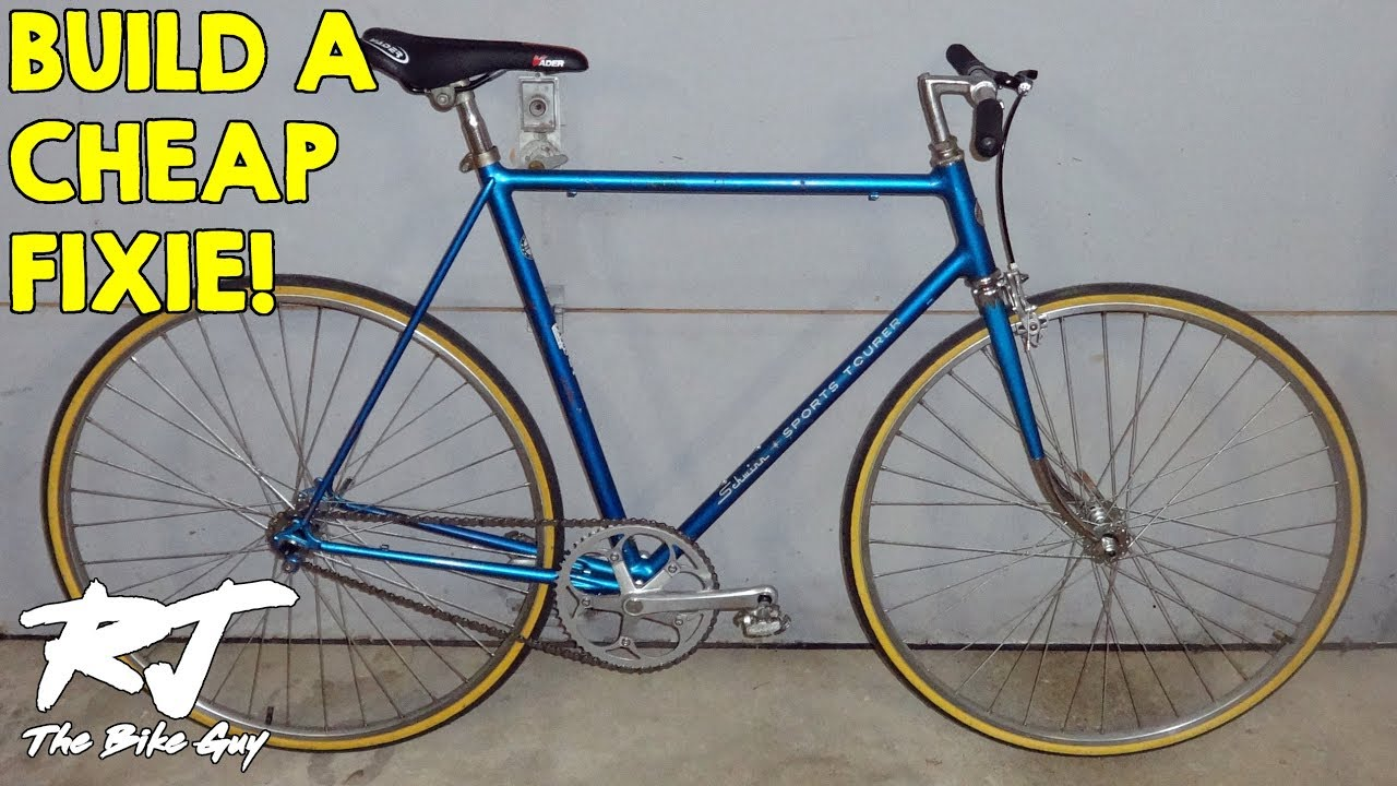 how to build a cheap fixie from a vintage bike youtube. Black Bedroom Furniture Sets. Home Design Ideas
