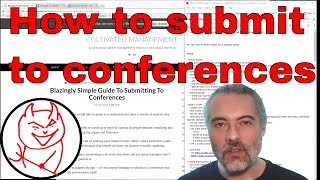 How to submit a talk to to a software testing conference - hints, tips, case studies and examples