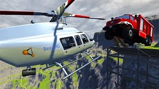 Throwing Cars at Helicopter BeamNG.drive
