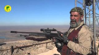 Iraqi Popular Mobilization Units Sniper kills 173 ISIS fighters  -  Abu Tahseen 5 war veteran(Abu Tahseen joined the Popular Mobilization Units as a volunteer to defend Iraq from ISIS. He as born in 1953. He is a sniper veteran of 5 armed conflicts., 2015-12-27T12:05:49.000Z)