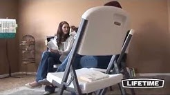 Lifetime Commercial Folding Chairs in White, Black, Almond, and Putty