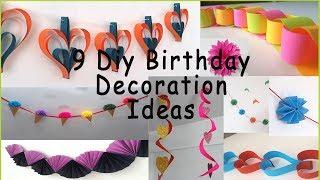 9 Diy Birthday Decoration Ideas At Home